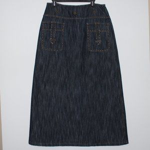 Denim Maxi Skirt Size Large